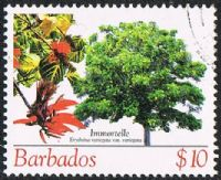 Barbados SG1280 2005 Flowering Trees $10 fine used
